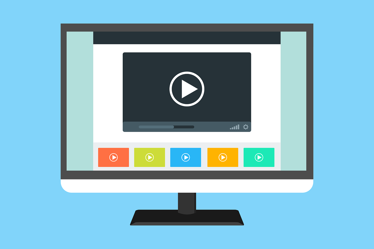 video, template, website